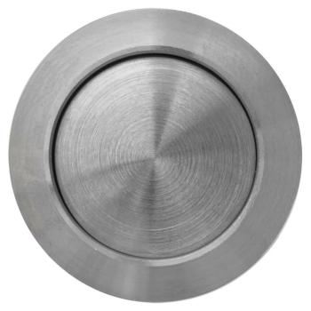Einbau Klingeltaster rund aus Edelstahl, 18/16 mm