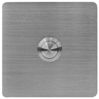 UP Klingeltaster V4A-Edelstahl eckig, 8,5 x 8,5 cm