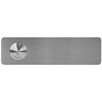 UP Klingeltaster aus Edelstahl rechteckig, 12,5 x 3,5 cm