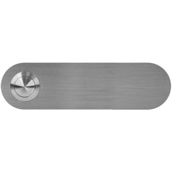 UP Klingeltaster aus Edelstahl, runde Ecken,12,5 x 3,5 cm