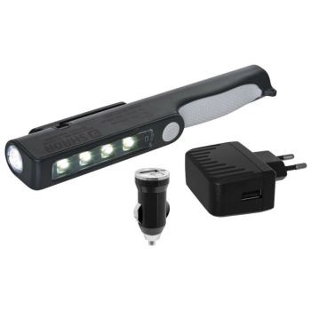 Akku-Handleuchte LED/1 + 2W/230V, 340 lm, 6500K