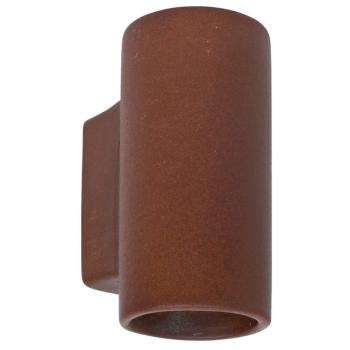 Wandleuchte aus Keramik rostfarben, 1 x G9