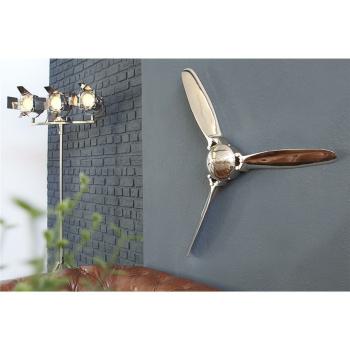 Deko Propeller SCREW III, 90cm silber
