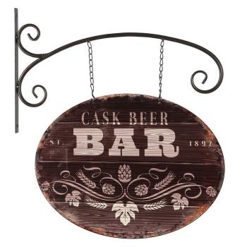 Nostalgisches Deko-Schild PUB Cask Beer / Bar mit...