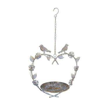 Vogelbad aus Metall zum hängen, Herz mit...