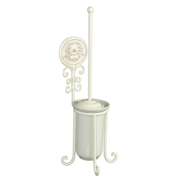 Toilettenbürste antik Eisen/Keramik weiß, 52cm