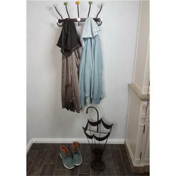 Garderobe mit Keramik - bunt/antikbraun 43 cm