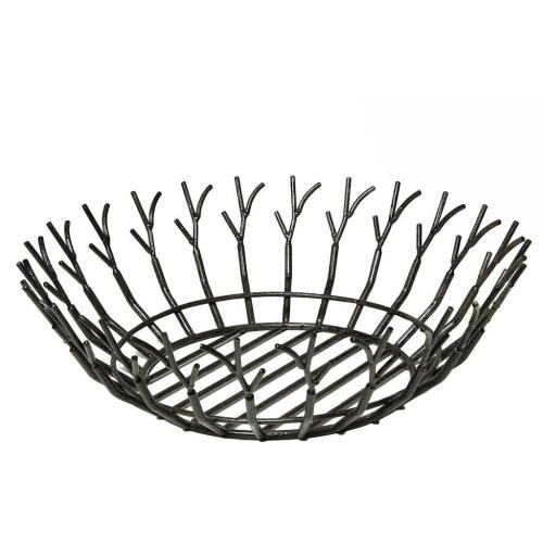 Obstschale FULIGO schwarz, 35 cm