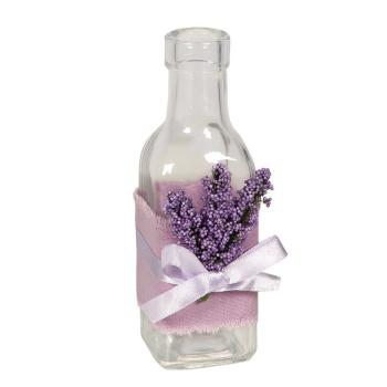 Dekoflasche Lavendel, 16x5cm