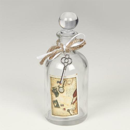 Parfümflasche rund mit Verschluss, klassisch antik, 17 cm
