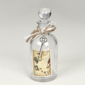 Parfümflasche rund mit Verschluss, klassisch antik,...