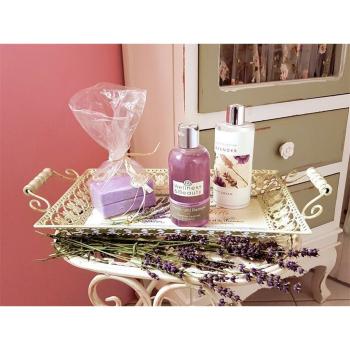Tablett Lavendel/antikcreme, 2er Set