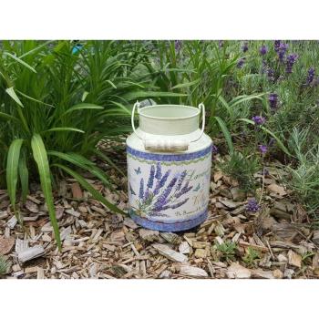 Milchkanne Deko Lavendel, 27 cm