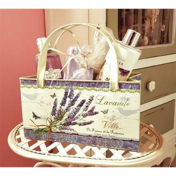 Lavendel  Deko-Tasche aus Metall