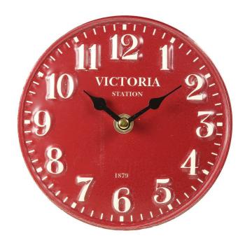 Tischuhr Victoria  rot 15 cm