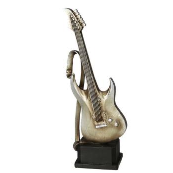 Dekofigur Gitarre, antiksilber, 33 cm