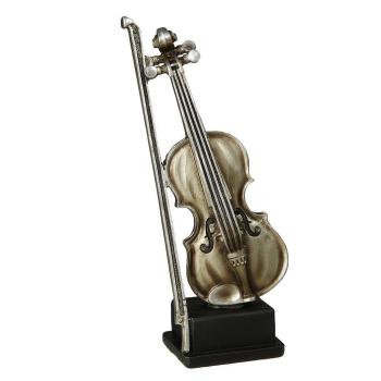 Geige antiksilber 22 cm