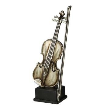 Geige antiksilber 12 cm