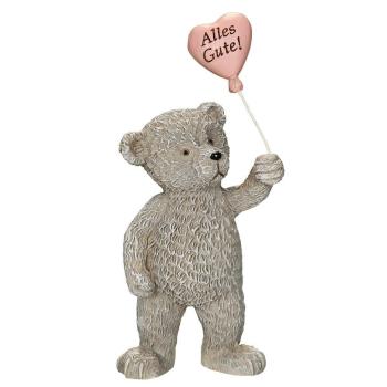 "Bär mit Herzballon ""Alles Gute"" - 10 cm"