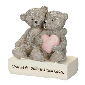 Deko Bär - Liebe ist der Schlüssel zum Glück