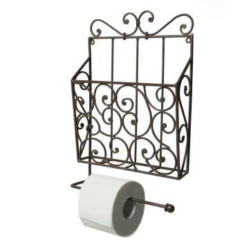 Rustikaler vintage Zeitungs- und Toilettenrollenhalter,...