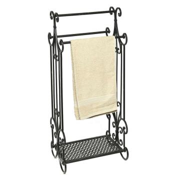Stabiler Handtuchhalter Schmiedeeisen antikschwarz