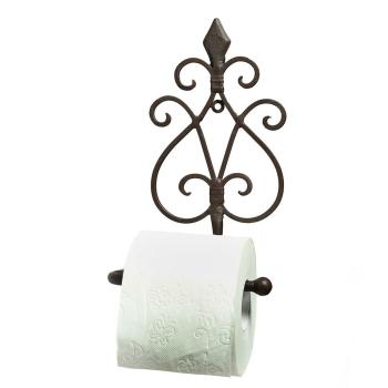 Toilettenrollen-Halter Schmiedeeisen antikbraun 24 cm