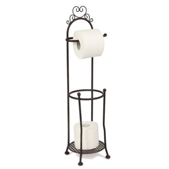 Toilettenrollenständer retro antikbraun 70 cm