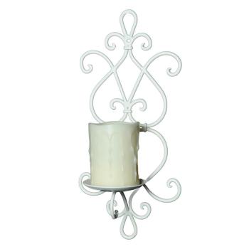 Increto Wand-Kerzenhalter antik weiß, 36 cm