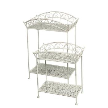 Romantisches Beistelltisch / Gartentisch 2er Set aus Eisen