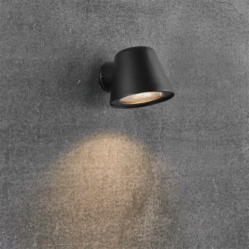 Außen-Wandspott ALERIA schwarz, 1 x GU10