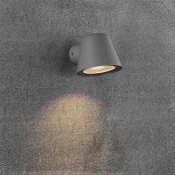 Außen-Wandspott ALERIA grau, 1 x GU10