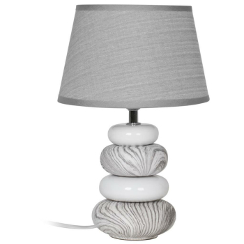 Tischleuchte ARES Keramik weiß/grau, 1 x E14