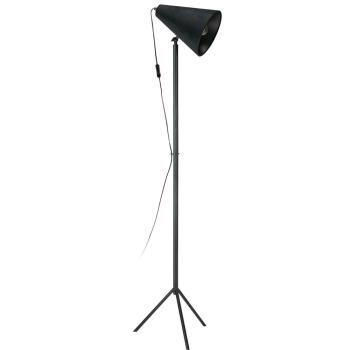 Standleuchte CILLA Schirm mit Samtüberzug, schwarz
