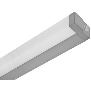Spiegelleuchte mit Schalter, Aluminium silber...