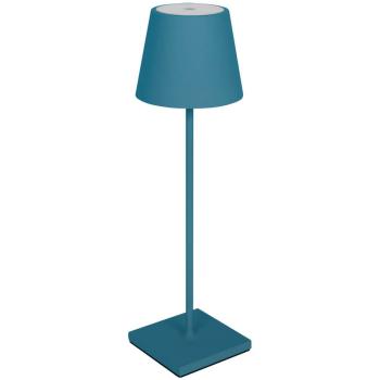 LED Akku-Tischleuchte NUINDIE blau für Außen IP54