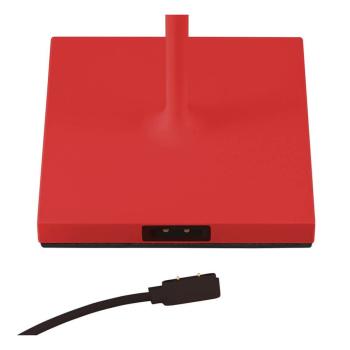 LED Akku-Tischleuchte NUINDIE rot für Außen IP54