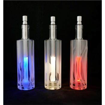 Flaschenset Titano Wasser 2, 3er Set Klarglas/Gravur
