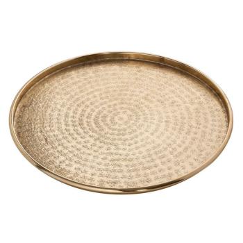 Serviertablett ø 40 cm Deko Tablett gold Aluminium...