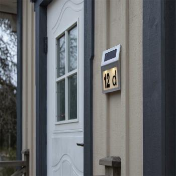 LED Solar- Hausnummernleuchte WALLY mit...