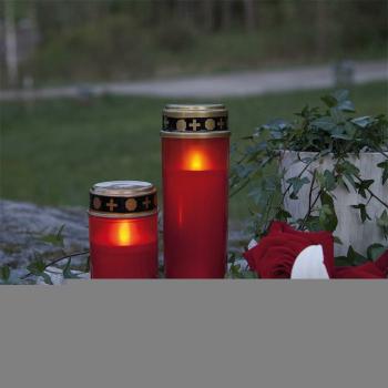 Grablicht SERENE rot, 1 flackernde LED