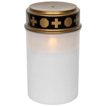 Grablicht SERENE weiß, 1 flackernde LED