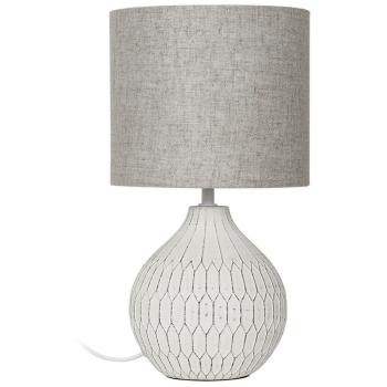 Tischleuchte BELLARIVA 3 Keramik weiß/Leinen...