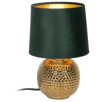 Tischleuchte SOPHIA grün/gold, 1 x E14
