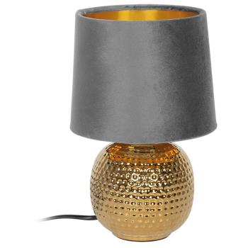Tischleuchte SOPHIA grau/gold, 1 x E14
