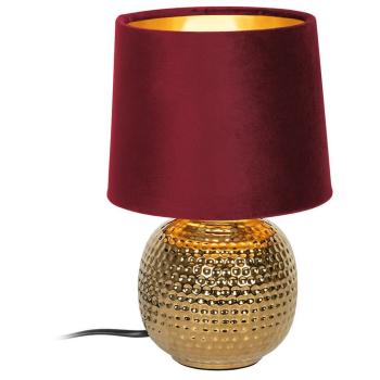 Tischleuchte SOPHIA rot/gold, 1 x E14