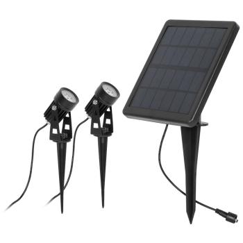 LED Solar- Erdspießstrahler, 2 x LED/1W