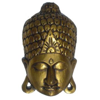 Wanddekoration Buddha Maske Wandschmuck gold, 40 cm
