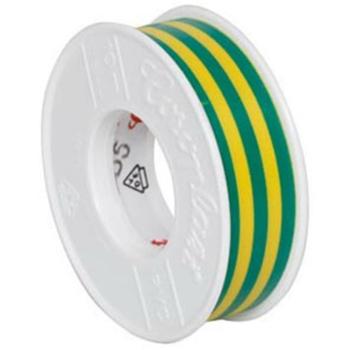 Isolierband, PVC, 10 m, grün/gelb