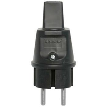 Konturen-Stecker, PVC, schwarz
